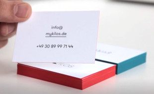 Cool Edge-Painted Business Cards - 45 Kilo