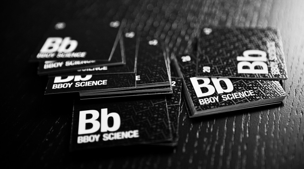 Cool Square Business Cards - Bboy Science2