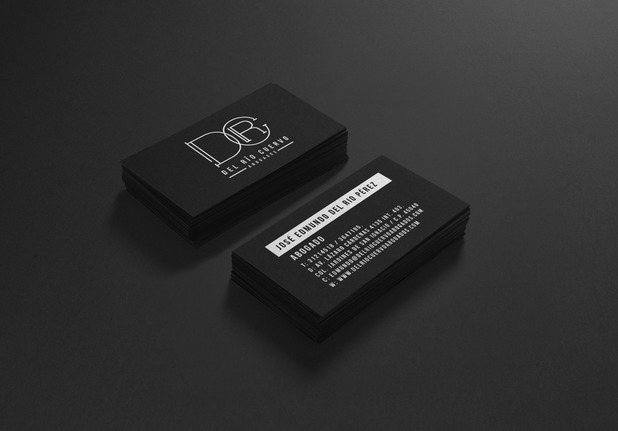 Cool Business Card – Black Umbrella