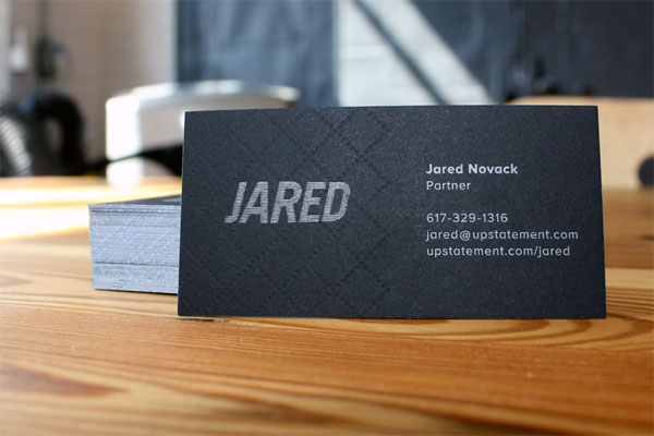 Cool Black Letterpress Business Card - Upstatement 3