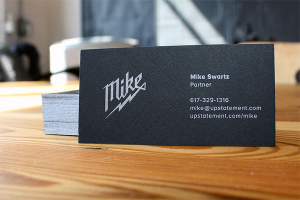 Cool Black Letterpress Business Card - Upstatement 5