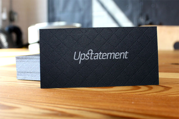 Cool Black Letterpress Business Card - Upstatement 6