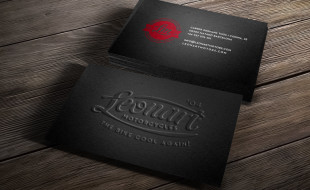 Cool Business Card Design - Leonart Motorcycles