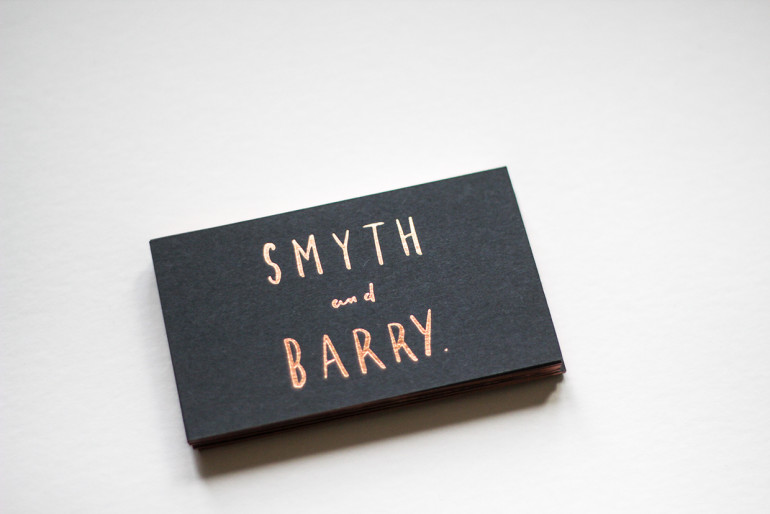 Cool Edge Painted Business Cards - Smyth and Barry 2