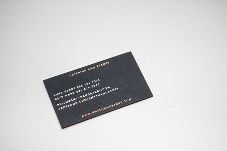 Cool Edge Painted Business Cards - Smyth and Barry 3