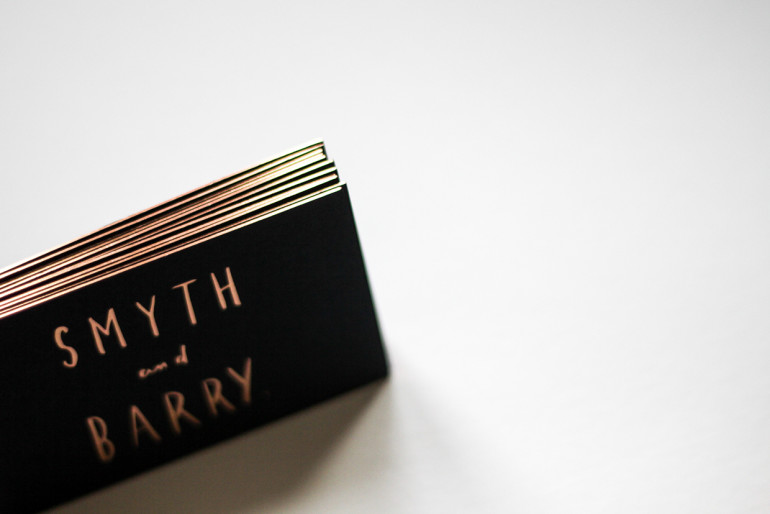 Cool Edge Painted Business Cards - Smyth and Barry