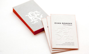 Cool Foil Printed Business Cards - Evan Romoff