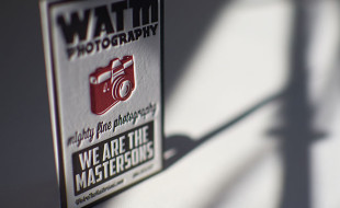Cool Letterpress Business Card - We Are the Mastersons
