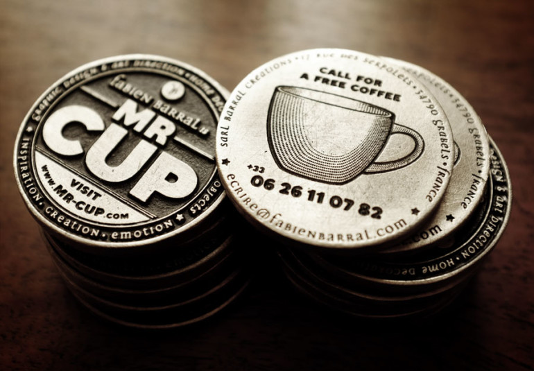 Cool Metal Coin Business Cards - Mr Cup 2