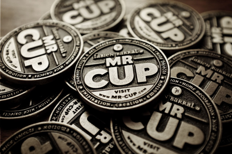 Cool Metal Coin Business Cards - Mr Cup 3