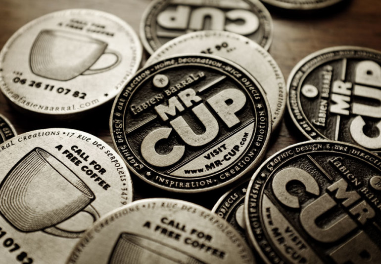 Cool Metal Coin Business Cards - Mr Cup 4