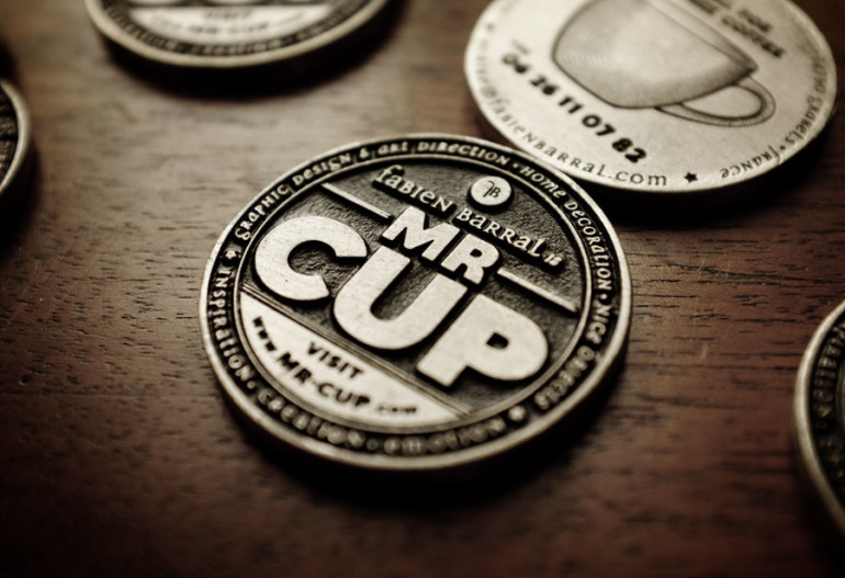 Cool Metal Coin Business Cards - Mr Cup