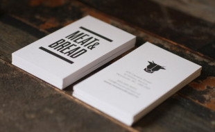 Cool Minimalistic Business Cards - Meat & Bread