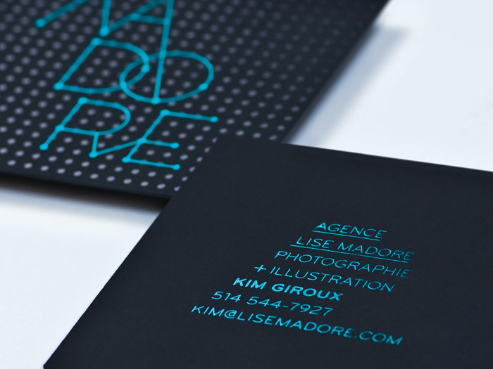 Cool Square Business Card - Madore