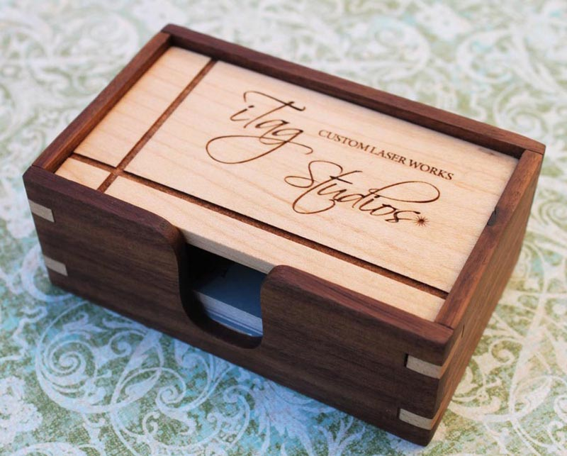 Cool Wooden Business Card Holder | CardRabbit.com