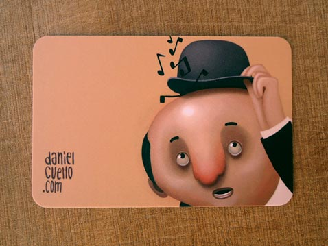 creative illustrated business cards daniel cuello - Animated Business Cards