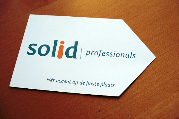 Die-Cut Business Card - Solid Professionals