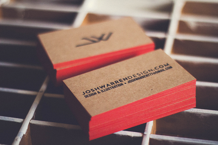 Edge Painted Business Cards - Josh Warren