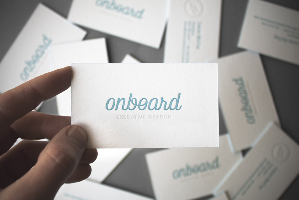 Edge Painted Letterpress Business Cards - Onboard 2