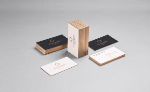 Foil Printed Business Cards with Golden Edges - Danh Hien