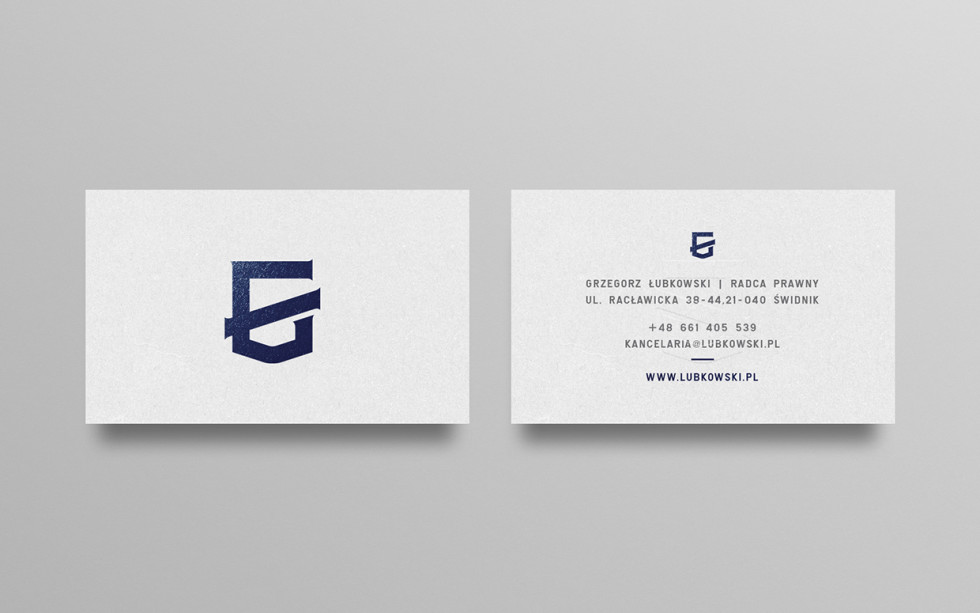 Minimalistic Foil Printed Business Cards - Lubkowski