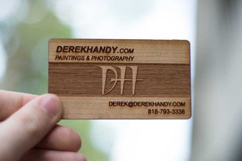 multi tone laser engraved wood business card - Engraved Business Cards