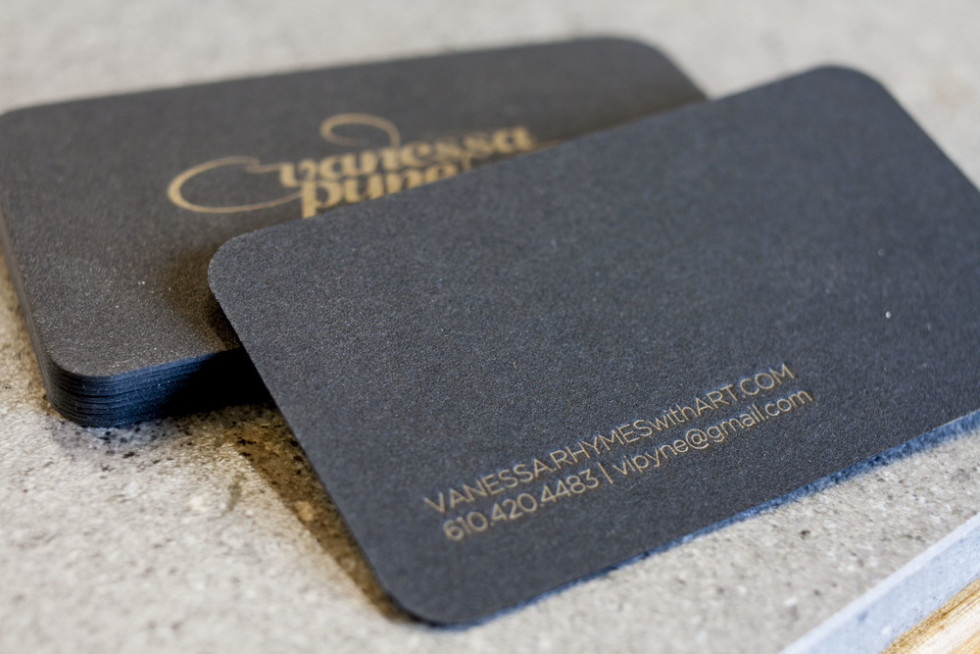 Die cut letterpress business cards vanessa pyne cardrabbit rounded letterpress business cards vanessa pyne reheart Image collections