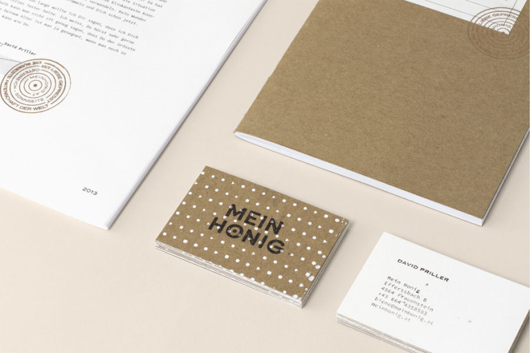 Stamped Business Cards - Mein Honig