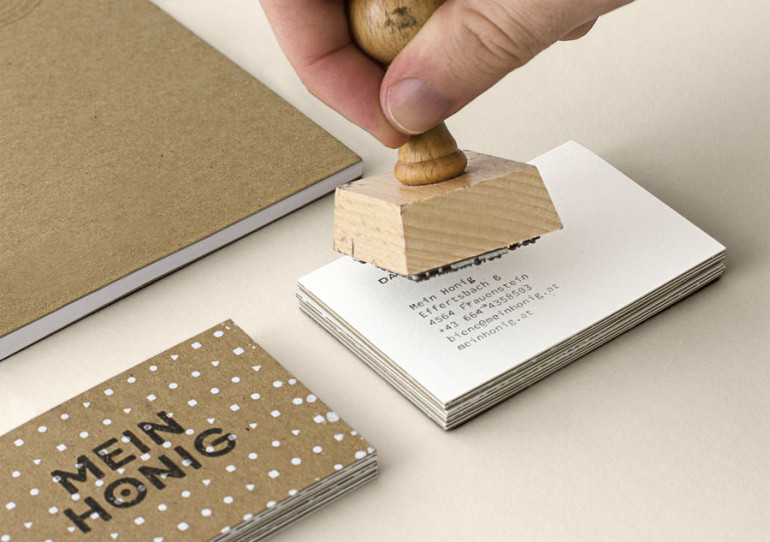 Stamped Business Cards - Mein Honig - Stamping
