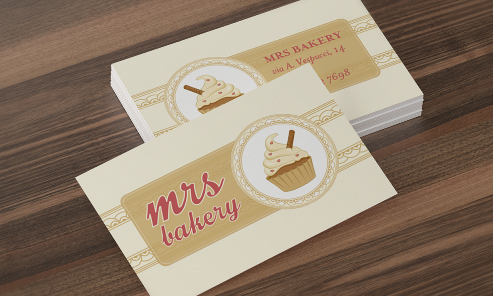 Tasty Custom Business Cards – Mrs Bakery | CardRabbit.com