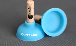 Unique Custom Business Card - Yaletown Plumbing Plunger 2