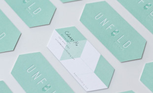 Unique Custom Shaped Business Cards - Unfold