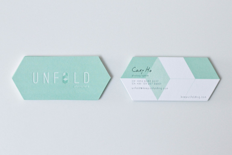 Unique custom shaped business cards unfold cardrabbitcom for Odd shaped business cards