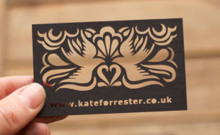 Laser cut business cards cardrabbit unique laser cut business cards kate forrester colourmoves