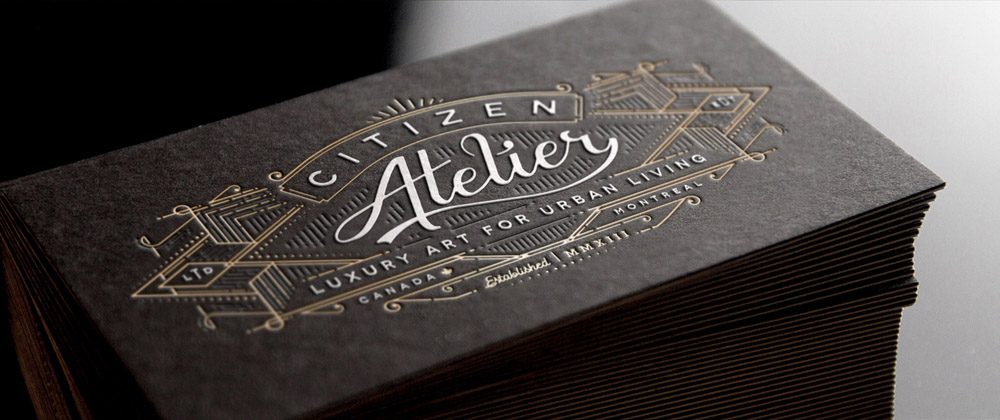 ... Unique Letterpress Business Cards U2013 Citizen Atelier ...