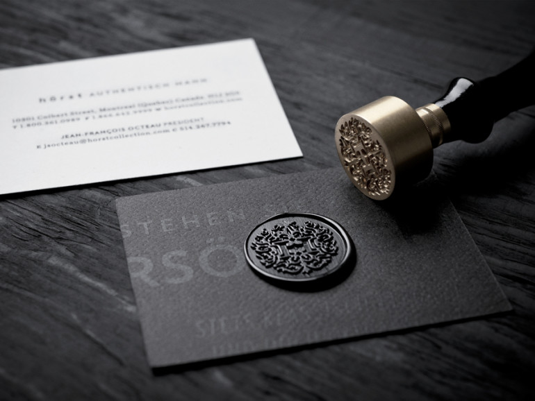 Unique Wax Stamp Business Cards - Hörst