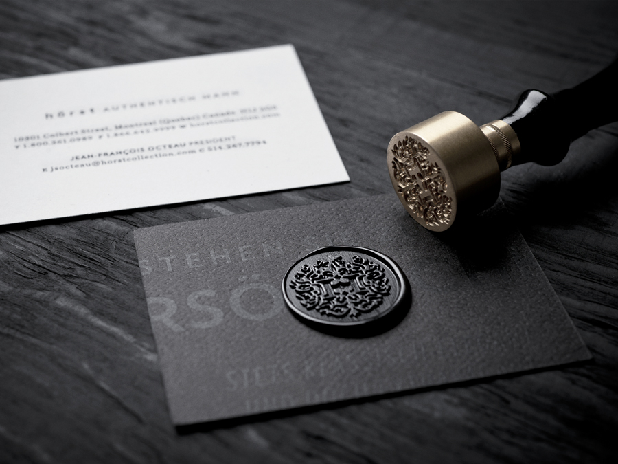 Unique Wax Stamp Business Cards of Hörst | CardRabbit.com