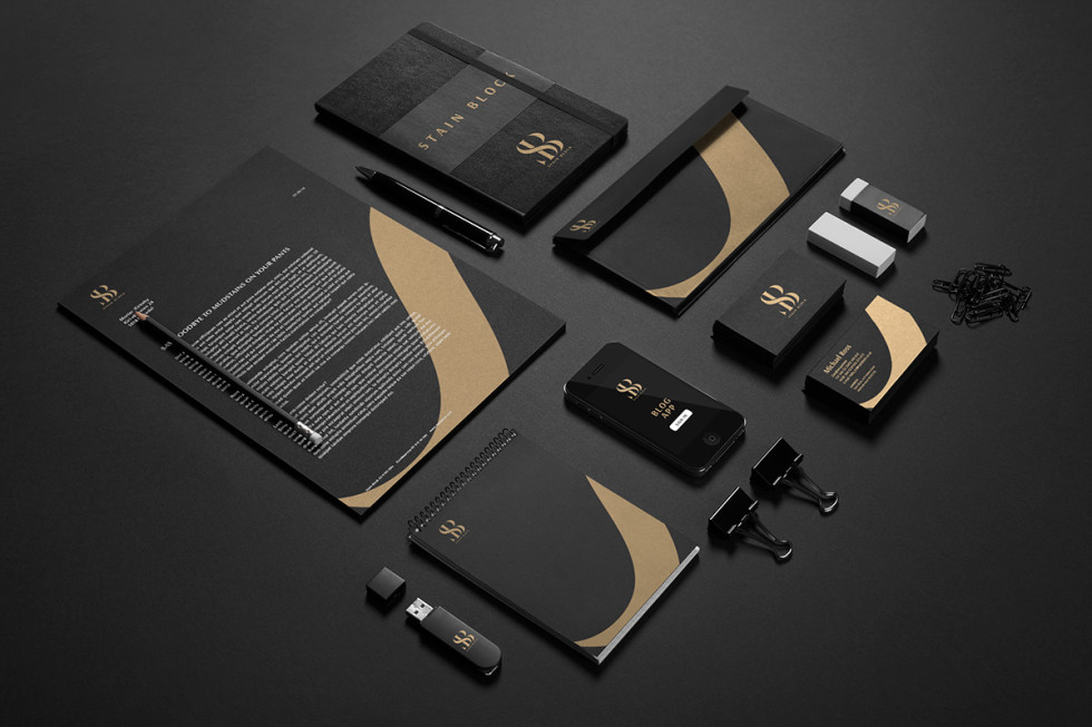 Cool Black & Gold Business Cards - Stain Block 2