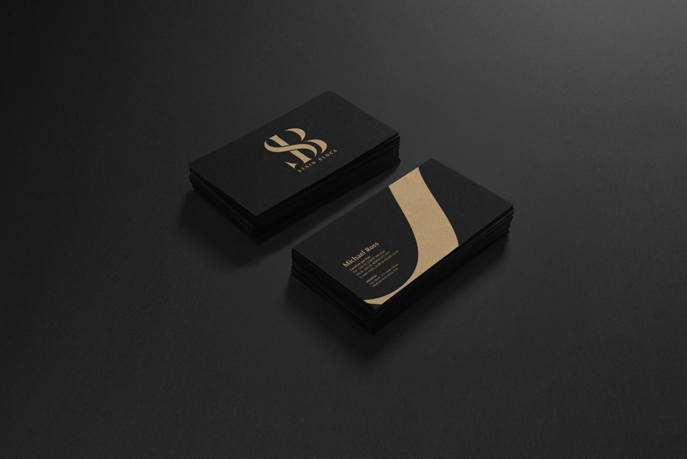 Cool Black & Gold Business Cards - Stain Block