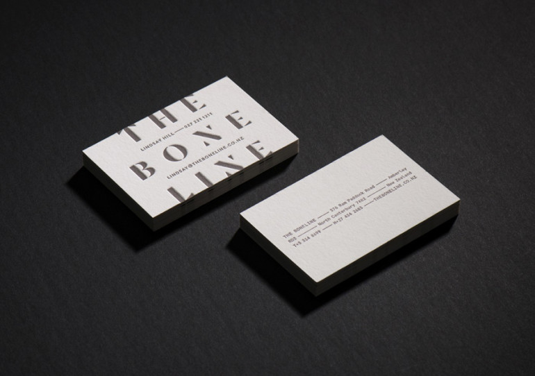 Cool letterpress business card the bone line cardrabbit cool letterpress business card bone line reheart Gallery