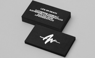 Creative Black and White Business Card - Life or Death