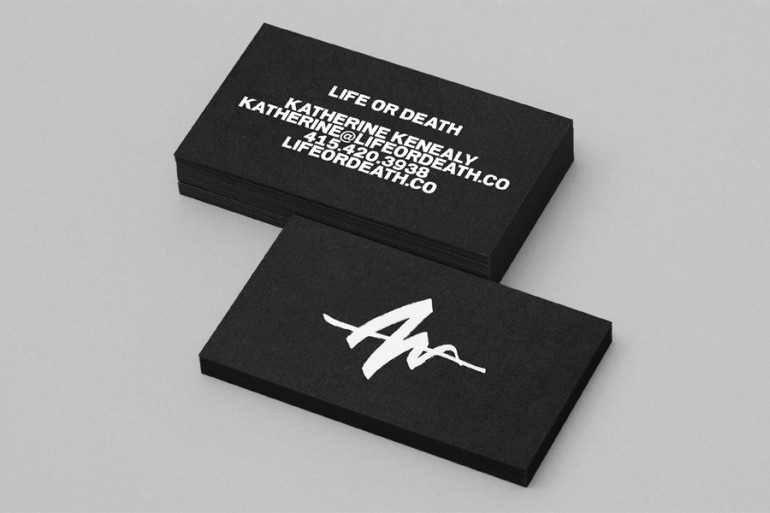 Creative Black and White Business Card – Life or Death