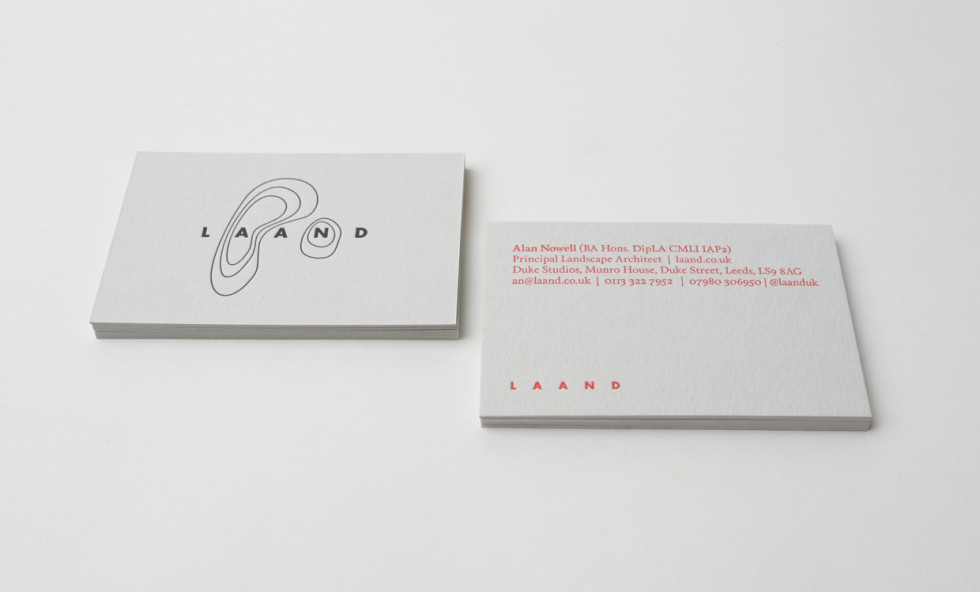 Minimalistic Custom Business Cards – Laand | CardRabbit.com