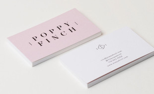 Minimalistic Pink Business Card - Poppy Finch