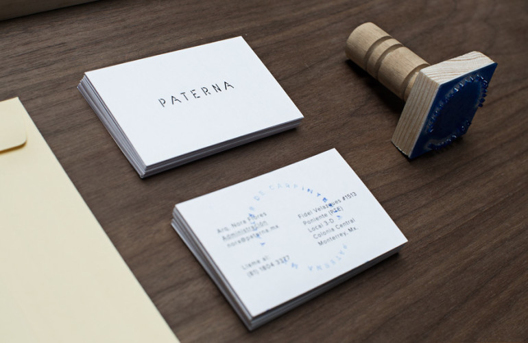 Stamped Minimalistic Business Card - Paterna