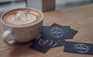Cool Black Business Cards - Dollop Coffee