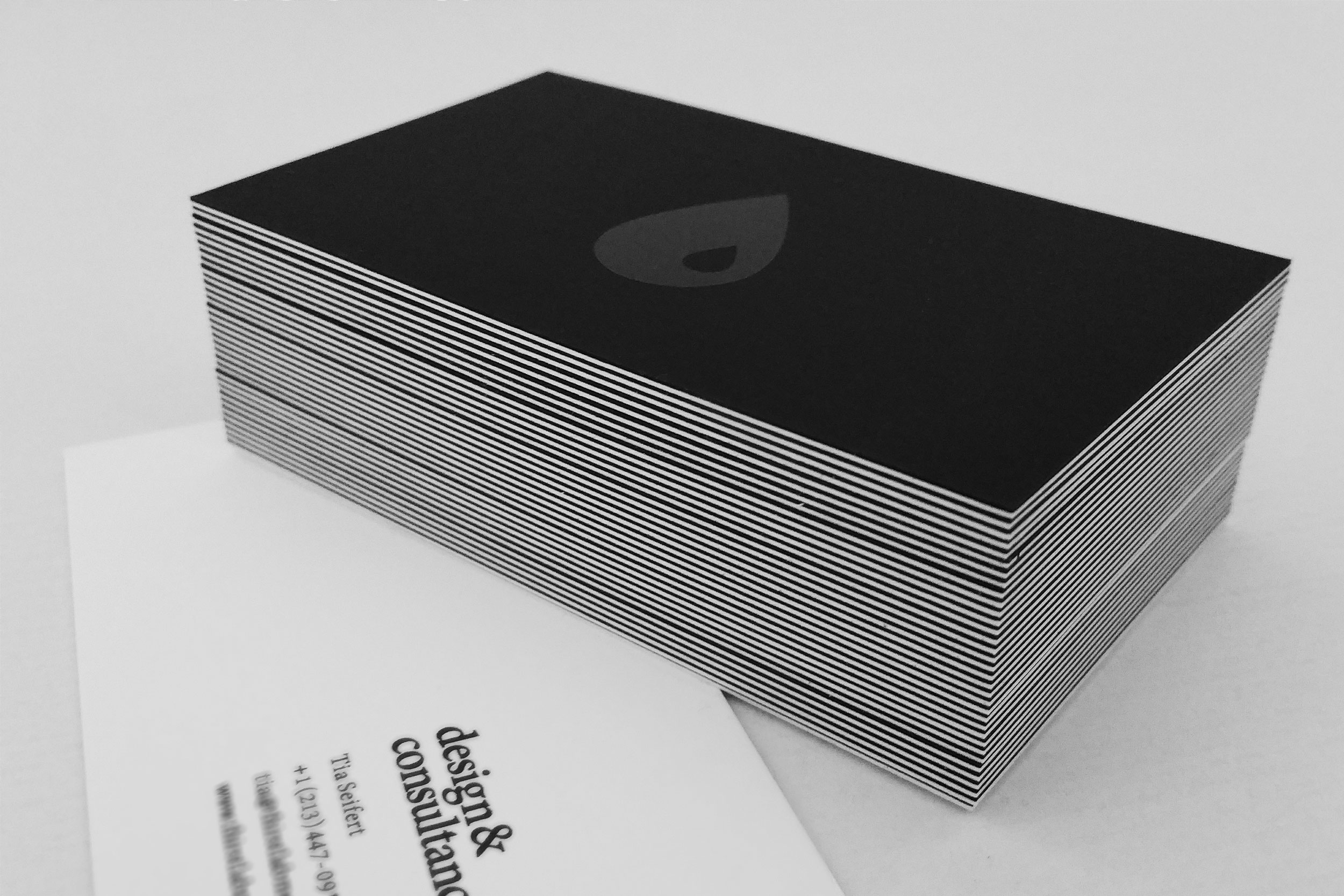 awesome black letterpress business card – cause effect