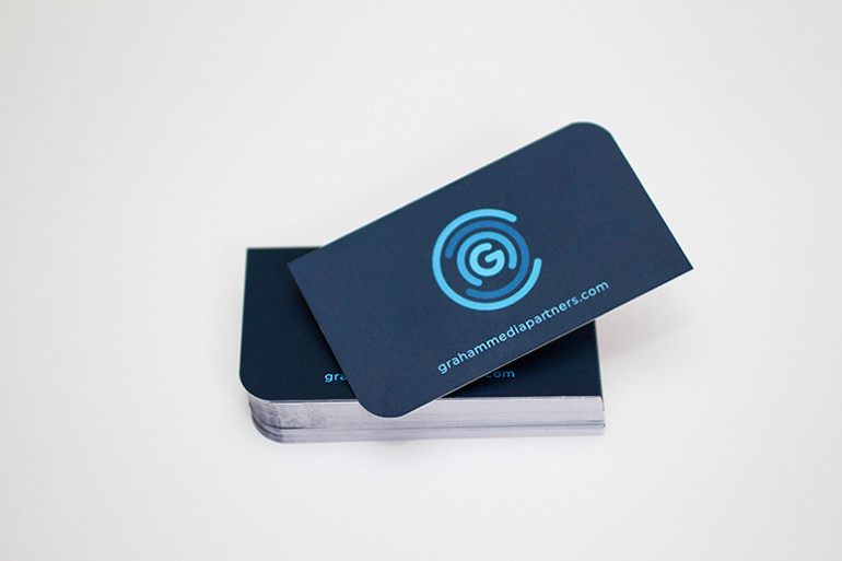 Cool Die-Cut Business Cards - Graham Media Partners