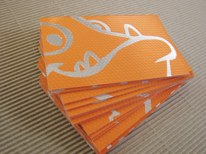 Cool Duplexed Foil Printed Business Cards - Bad Fish Software 3