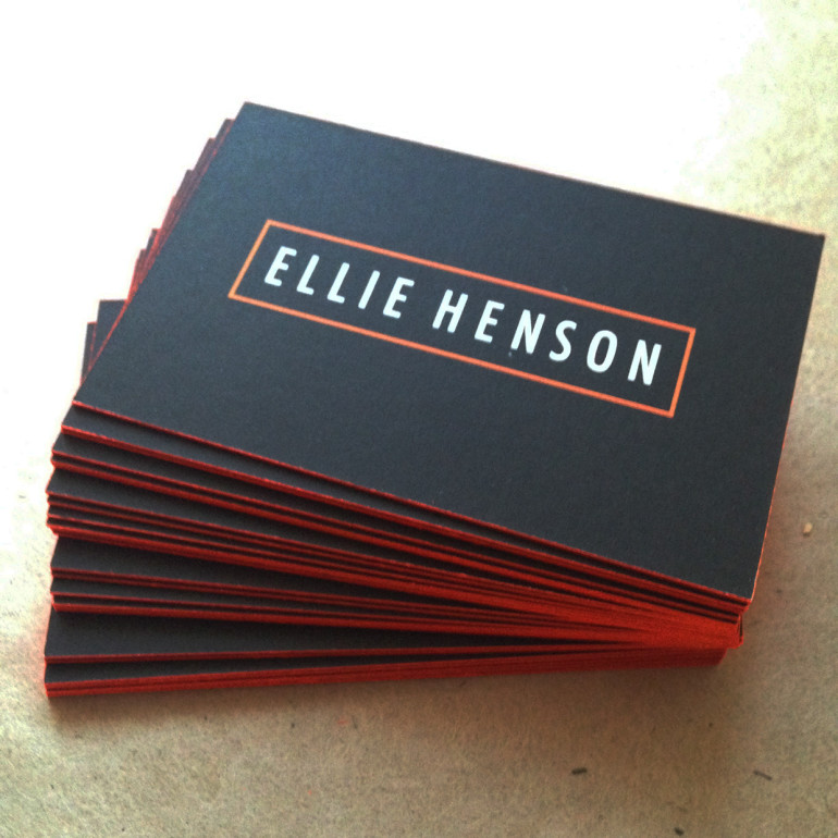 Cool Edge Painted Business Cards - Ellie Henson2